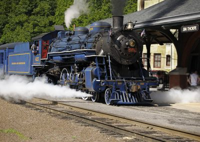 Steam train in Jim Thorpe